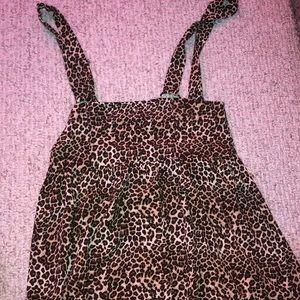 cheetah overall dress